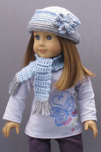 CROCHETED HAT & SCARF for AMERICAN GIRL DOLLS ? Patterns fom