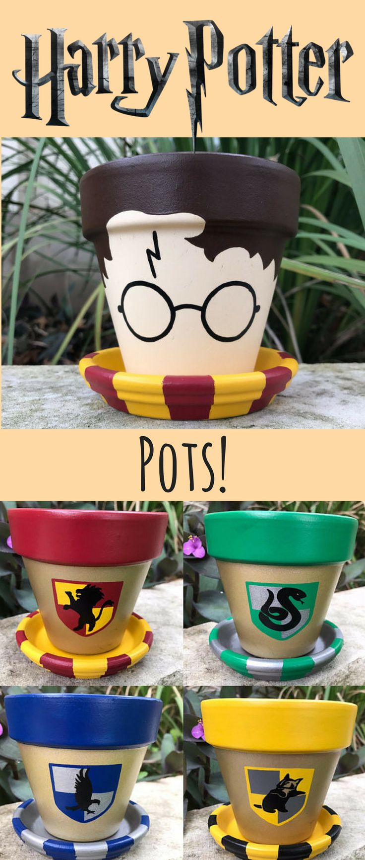 How cute! I would love a harry Potter Pot for my window still! Maybe I could plant a magical plant in it? #ad #affiliate #etsy #etsyfinds #harrypotter #butterbeer #harrypotterfan #harrypottergift #mandrake #plants #planter #pottedplant #pots