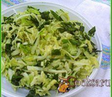 Летний салат к шашлыку Этот легкий,хрустящий салат можно очень быстро приготовить, как дома, так и на природе.Он невероятно хорош к запеченному мясу или шашлыку. Капуста белокочанная (молодая, средний вилок) — 0,5 шт; Базилик (свежие листочки) — 15 шт; Укроп — 1 пуч.; Зеленый лук (одно крупное растение с луковицей) ; Уксус винный (красный) — 2 ст.л.; Соль (по вкусу) ; Масло растительное — 2 ст.л.; Перец черный (молотый; по вкусу) ;