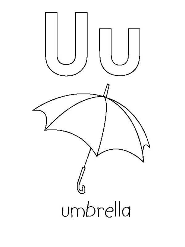 Coloring Pages For Letter U
