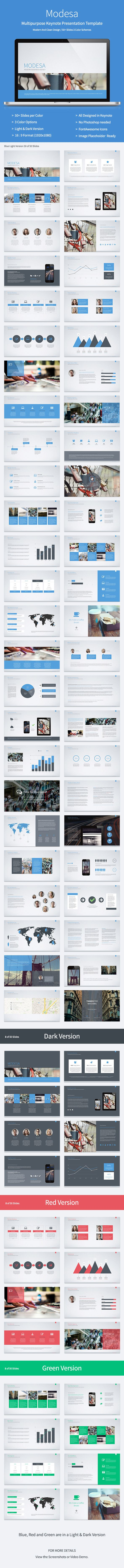 Modesa - Multipurpose Keynote Template #keynotetemplate #multipurposekeynote #presentation Download: http://graphicriver.net/item/modesa-multipurpose-keynote-template/8017338?ref=ksioks