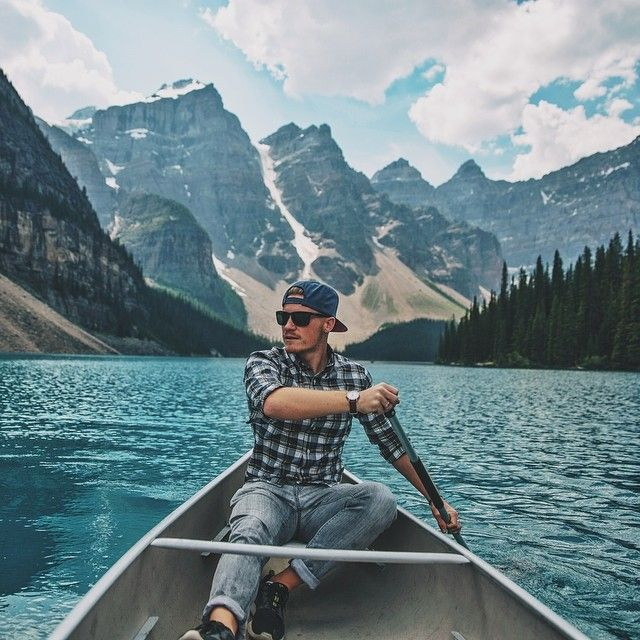 mrbenbrown: So stoked we had a chance to get out on the water in a Canadian Canoe! It was so relaxing, kayaking is better though Photo by @stevebooker #ExploreAlberta #StayAndWander http://ift.tt/1xLBH6Q