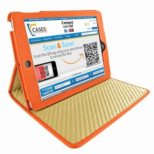 Apple iPad Mini Piel Frama Orange Cinema Magnetic Leather Cover Magnetic sleep mode function.. Magnetic closure system.. Aperture to allow synchronization and charging by cable.. Soft leather lining. 1 leather chamois.  #PielFrama #PCAccessory