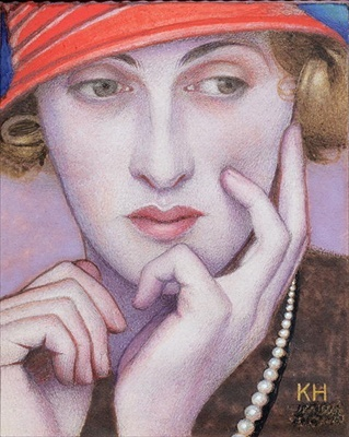 Portrait of Madame X  by Keith Henderson (1883-1982).........REMINDS ME OF MERYL STREEP...........ccp