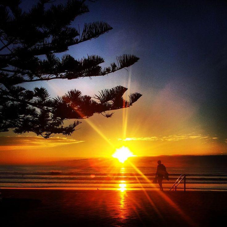 Sunrise over Manly Beach #sunrise #surf #sydney #Australia