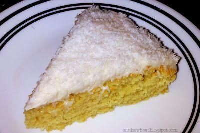 AhhhMazing Grain Free, Sugar Free, Gluten Free, Dairy Free Frosted Lemon Coconut Cake (S)