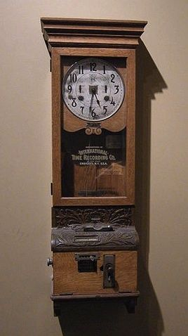 Old Factory Time Clock