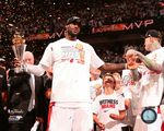LeBron James with the MVP Trophy Game 7 of the 2013 NBA Finals