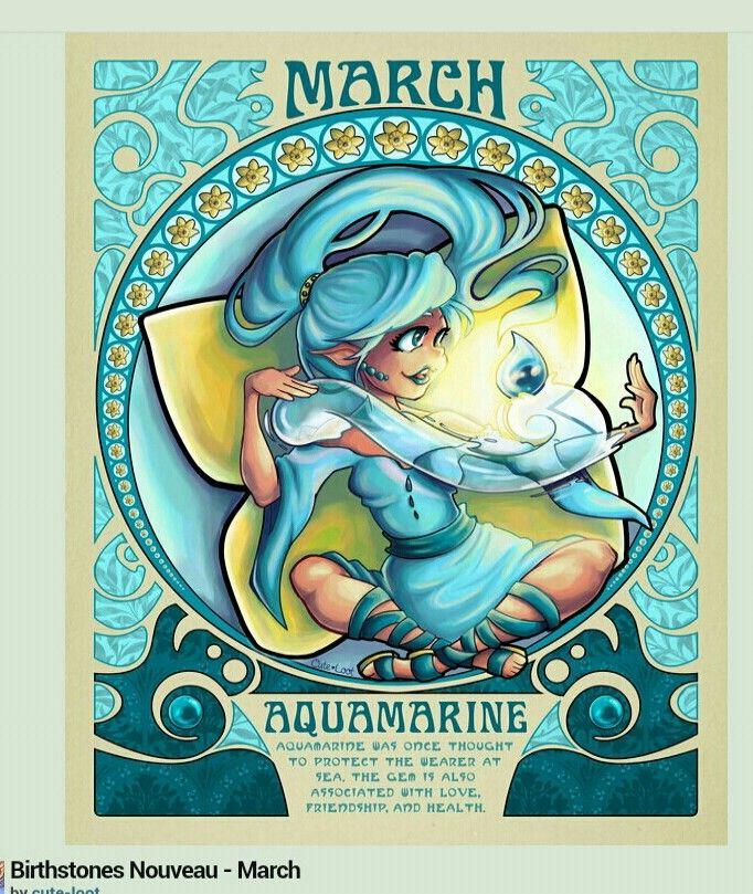 birthstone of march whats your color pinterest astrologie poissons et dessin. Black Bedroom Furniture Sets. Home Design Ideas