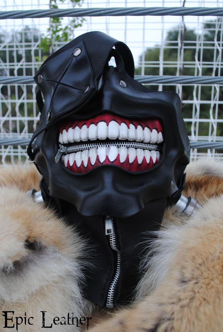 Tokyo Ghoul Ken Kaneki's Eyepatch Leather Mask by Epic-Leather.deviantart.com on @deviantART