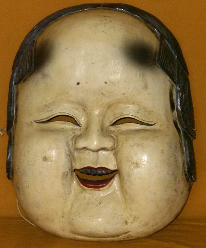 Asian Antiques | Antique Japanese Large Otafuku Meiji Period c.1885 Mask For Sale ...