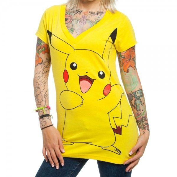 Pokemon - Pikachu V-Neck Tee