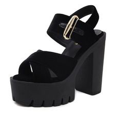 Sandalias de verano para las mujeres sandalias mujer sandalias de gladiador peep toe tacones altos zapatos de las sandalias de plataforma de verano D1220(China (Mainland))