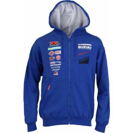 Pilot Motosport Yoshimura Suzuki Factory Racing Team Hoodie Pull, Size: 2Xlarge, Blue