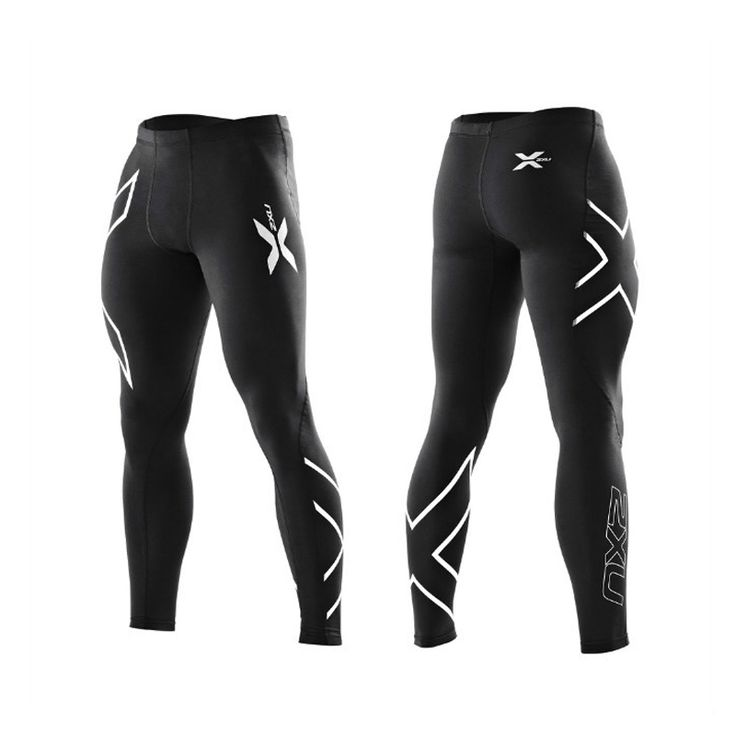 2 XU Men's winter thermal fleece Compression Tights Training Pants Gym Clothing Trousers Joggers Gymshark Outdoor Sports Brand