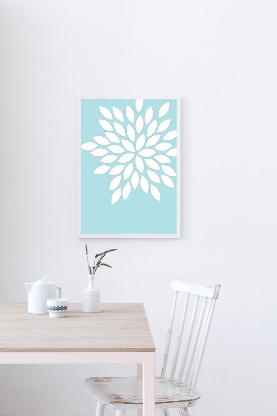 wall art print flower art flowers floral decor by myowndreamland