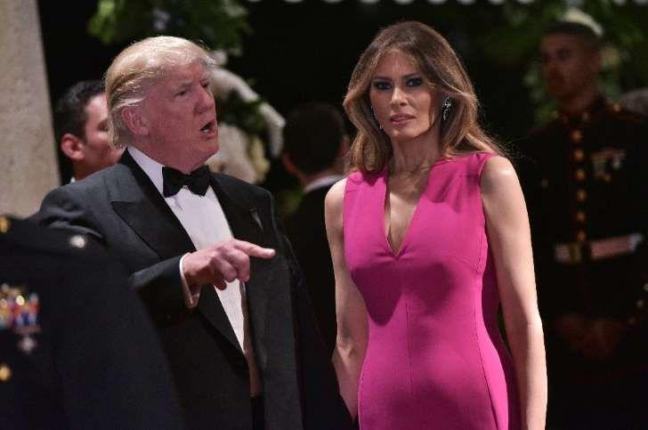 Le président américain Donald Trump et son épouse Melania Trump à Palm Beach, le 5 février 2017