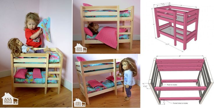 DIY Doll Bunk Beds - http://www.decorationarch.com/creative-ideas/diy-doll-bunk-beds.html -