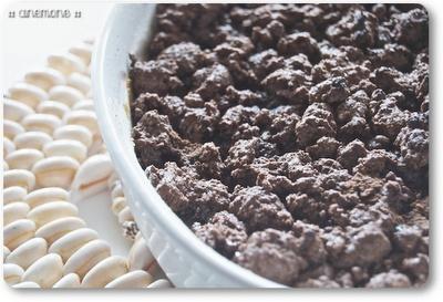 Crumble al cacao con banane