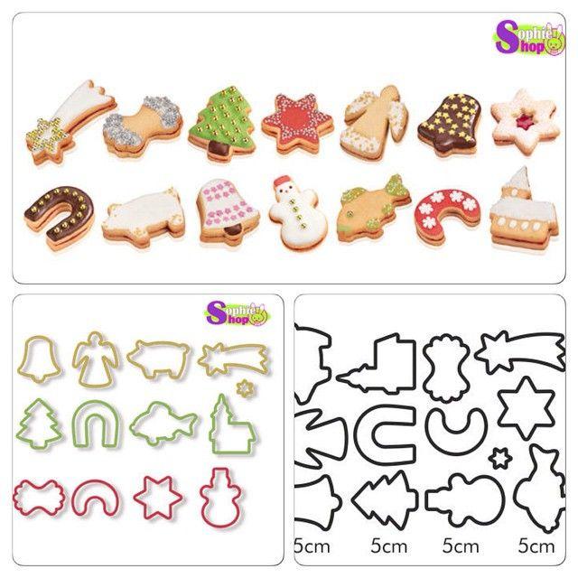Cortadores de galletas de Navidad  13 pcs $2.500  #regaloperfecto