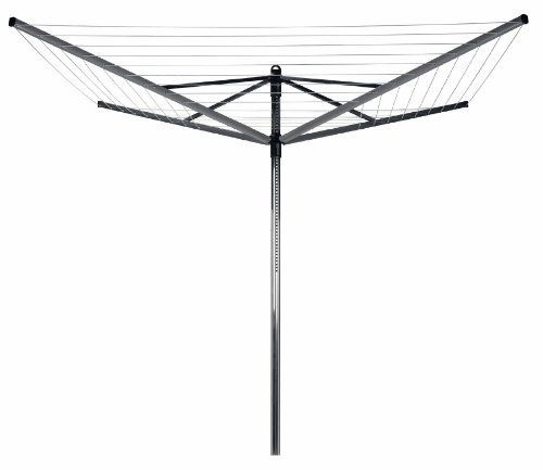 Outdoor Rotary Lift-O-Matic Adjust Umbrella Clothes Dryer Clothesline 164ft - Brabantia #310942 by Brabantia. $127.50. 164 Feet Of Drying Line, This Laundry Airier Holds 3 To 4 Loads Of Washing.. Made In The Netherlands.. This Clever Design Lets You Adjust The Head From 4.5 To 6 Feet High.. 5 Year Warranty.. This Outdoor Rotary Lift-O-Matic Adjust Umbrella Clothes Dryer Clothesline 164ft - Brabantia #310942 is a top-quality outdoor dryer that is seamlessly adjustabl...