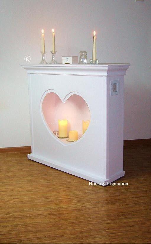 Na rynku jest wiele portali, atrap kominkowych, których przeznaczeniem są świece i wszelkiego rodzaju dekoracje. Tym razem postanowiłam odejść od tradycyjnych kształtów prostokąta czy kwadratu i zrobić wycięcie serca.