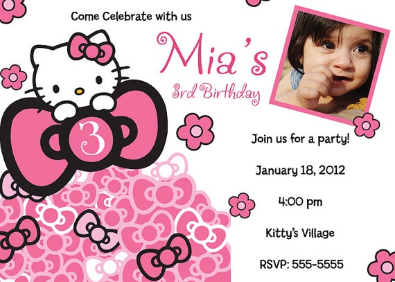 65 best Hello Kitty invitations images on Pinterest Hello kitty