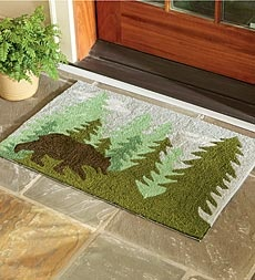 American-Made Bear Silhouette Address Plaque In Cast Aluminum - Plow & Hearth