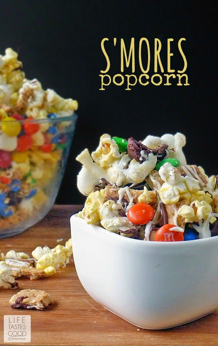 S'mores Popcorn #MovieNight4Less   by Life Tastes Good for the ultimate movie night at home!