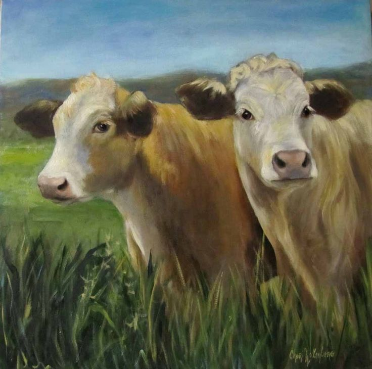 I don't know why but I love cow paintings :)