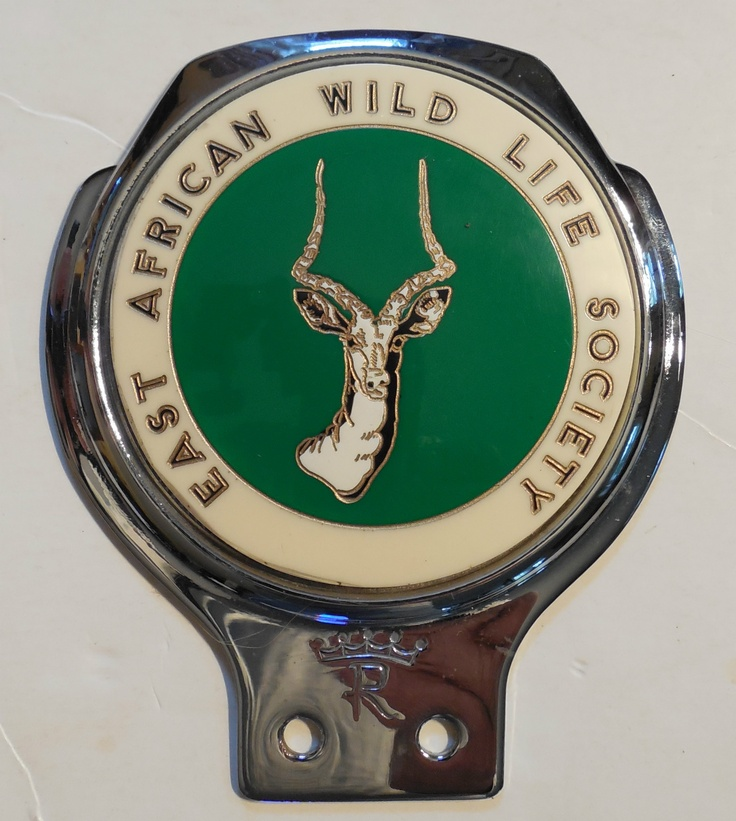 East African Wildlife Society Auto Badge....I have my Dad's badge just like this.