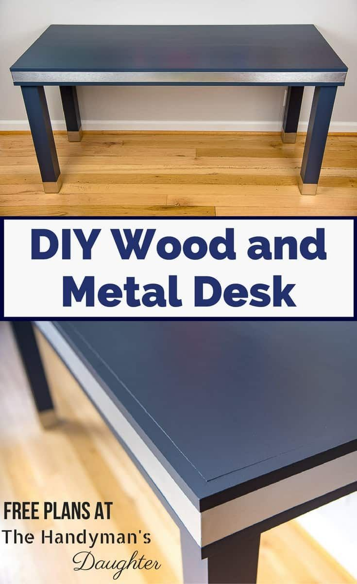 Diy Wood And Metal Desk Wood And Metal Desk Wood Diy Woodworking Projects Desk