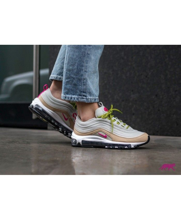 c9ca554e9eb Nike Wmns Air Max 97 Light Bone Deadly Pink Mushroom Sale