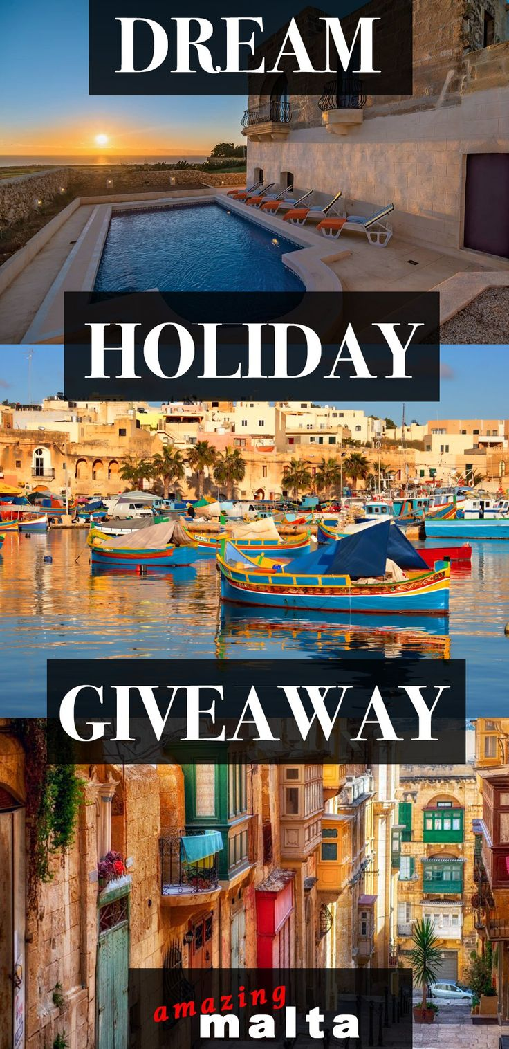 Win the BEST FAMILY HOLIDAY ever Guys ? 10 days in Amazing Malta with just about all included this giveaway will knock your socks off :) Sign up NOW