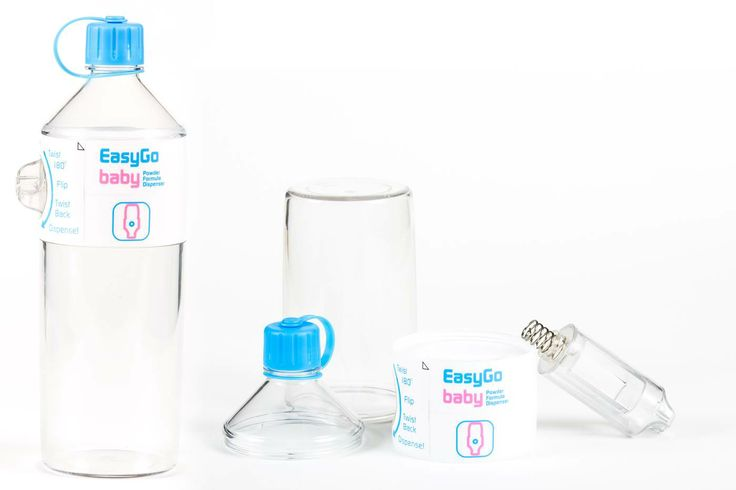 EasyGo Baby is a baby formula dispenser that will carry a full day's worth of infant formula. It dispenses precise amounts of formula into any baby bottle with no spillage. www.EasyGoDispenser.com