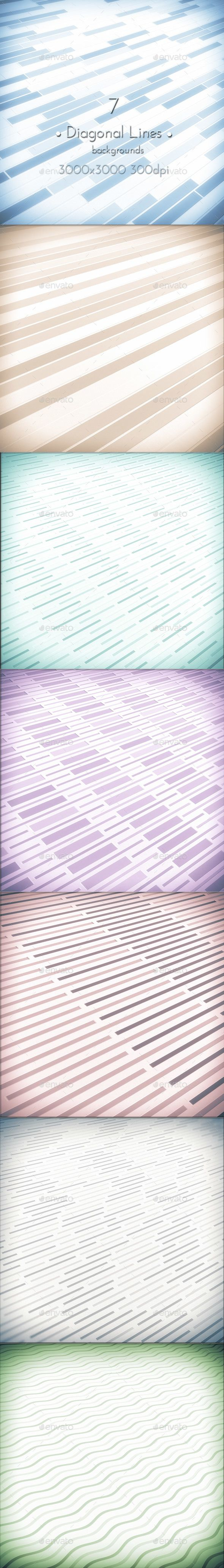 Diagonal Lines Soft Tone Square Wallpapers, 7 Hi-res Jpeg images, 3000×3000 (square format) 300 dpi. #design