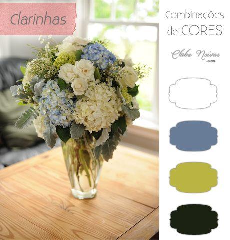 Combinações de Cores Clarinhas para Casamentos | Clube Noivas