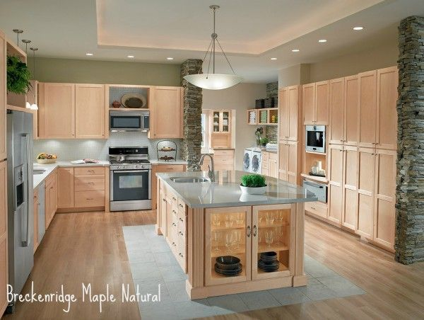 Light Maple Cabinets Grey Floor Yahoo Image Search