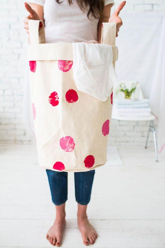Bolso para la ropa sucia - Free DIY  | PatternPile.com