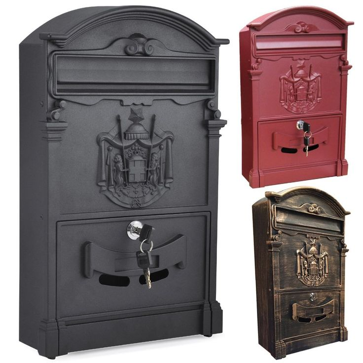 tinkertonk vintage outdoor lockable post box large mailbox letter box mail wall mounted - Lockable Mailbox