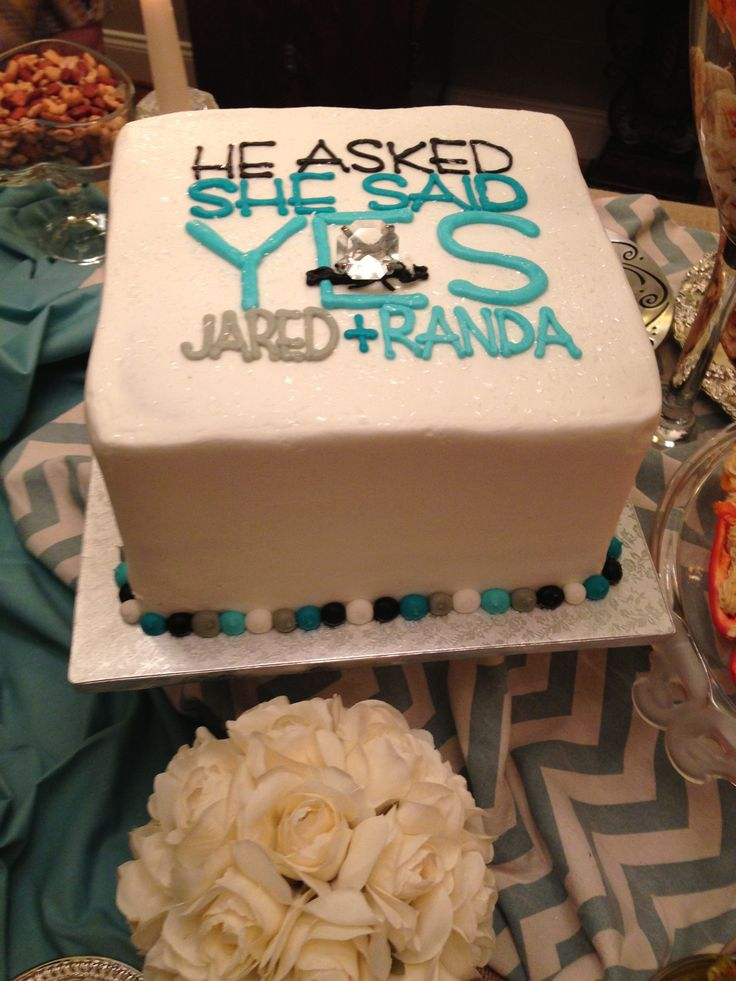 Engagement Party Cake to match invitation: Michelle, this is a cute cake idea concept