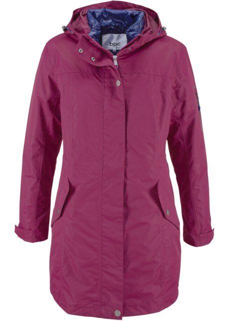 Функциональная куртка 3 в 1, bpc bonprix collection, красная ягода