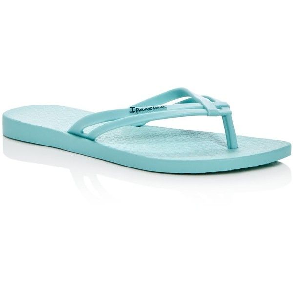Ipanema Hashtag Flip-Flops ($23) ❤ liked on Polyvore featuring shoes, sandals, flip flops, green, ipanema, ipanema flip flops, ipanema shoes, ipanema sandals and green shoes