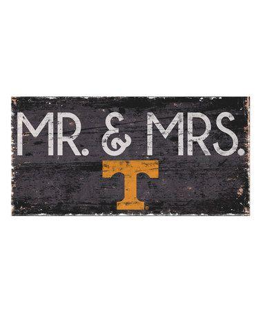 Look at this #zulilyfind! Tennessee Volunteers 'Mr. & Mrs.' Wall Sign #zulilyfinds