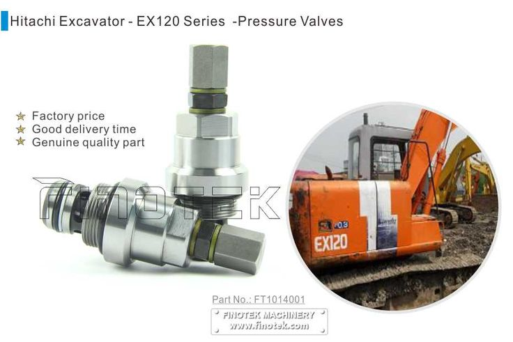 Finotek HITACHI Excavator Valve, EX120 relief valve – No.: FT1014001 is completed to replace the machine, as rotary valve, pressure main control valve, safety valve. We have good prices for your machine as a factory, the photos we took are the genuine one