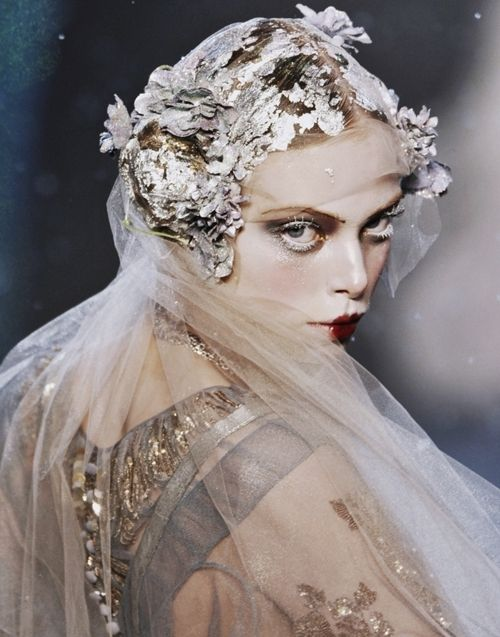 John Galliano woodland, fairy, elves, nymph, forest, spring, ice, snow, forest, fancy, dress, outfit,                                                                                                                                                     More