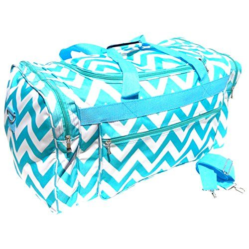 Best Turquoise Chevron Large Duffle Cheer Gym Bag 21 By TravelNut For Back To School