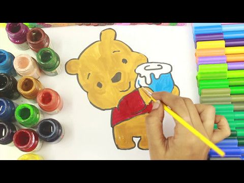 Winnie The Pooh Colouring Book - Disney Coloring Pages | coloring pages for kids | coloring videos - YouTube