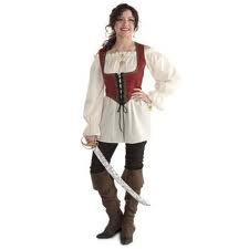 homemade women pirate costume