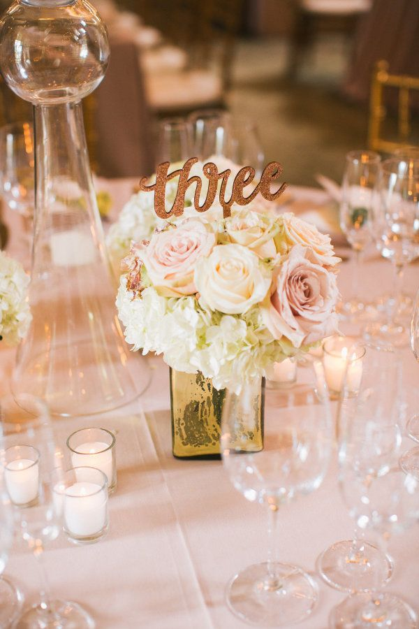 Rose wedding centerpiece: http://www.stylemepretty.com/2017/03/09/lindsay-ellingson-wedding-photos/ Photography: Perry Vaile - http://www.perryvaile.com/
